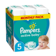 panes pampers active baby no5 11 16kg 150 tmx monthly pack photo