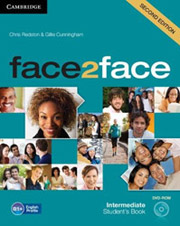 face 2 face intermediate students book dvd rom 2nd ed photo