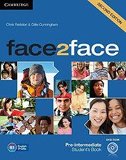 face 2 face pre intermediate students book dvd rom 2nd ed photo