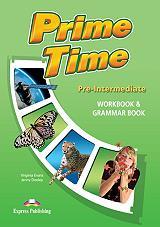 prime time pre intermediate workbook and grammar book photo