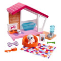 mattel barbie furniture and accessories puppies dog house unicorn playset extra photo 1