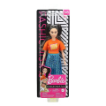 barbie doll fashionistas 145 long brunette pigtails shimmery skirt extra photo 3