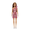 barbie glitz outfits brown hair doll with red dress grb33 extra photo 1