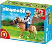 playmobil 5109 riding school horse with stall alogo haflinger photo