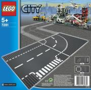 lego city 7281 t junction curved road plates photo