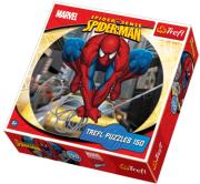trefl puzzle round 150pcs spiderman photo