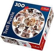 trefl puzzle round 300pcs our pets photo