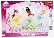 trefl puzzle frame 15pcs princess dance photo