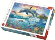 trefl puzzle 2000pz happy dolphins photo