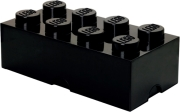 lego storage brick 8 black photo