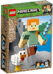 lego 21149 minecraft alex bigfig with chicken photo