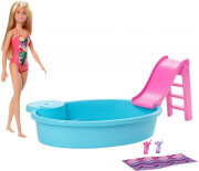 mattel barbie doll and pool playset ghl91 photo