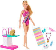 mattel barbie dreamhouse adventures swim n dive doll and accessories photo