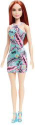 mattel barbie green dress with flowers brown hair doll ght27 photo