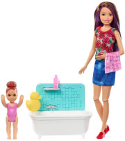 mattel barbie skipper babysitter inc doll and bathtub playset fxh05 photo