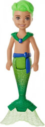 mattel barbie dreamtopia chelsea mermaids boy with green hair 13cm photo