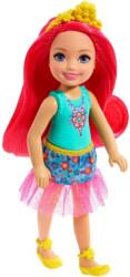 mattel barbie dreamtopia chelsea with pink hair 13cm gjj97 photo