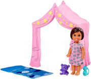 mattel barbie skipper babysitters inc pink tent with baby doll playset photo