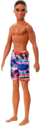 barbie ken beach dark skin doll with swim pants ghw44 photo