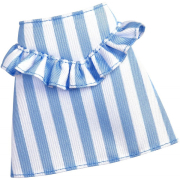 barbie bottom fashion doll outfit blue and white line skirt fxh90 photo