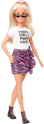 barbie doll fashionistas 148 blonde doll with animal print skirt ghw62 photo