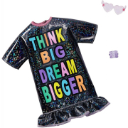 barbie fashion complete outfit think big dream bigger black dress 2 accessories photo