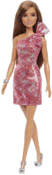 barbie glitz outfits brown hair doll with red dress grb33 photo