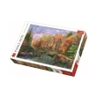 trefl puzzle 1500pz cottage by lake photo