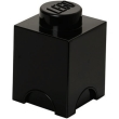 lego storage brick 1 black photo
