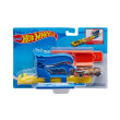 hot wheels pocket launcher playset with car blue fvm08 photo