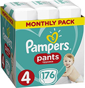 PAMPERS PANTS NO4 (9-15KG) 176 TMX MONTHLY PACK