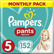 PAMPERS PANTS NO 5 (12-17KG) 152 TMX MONTHLY PACK