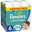 pampers active baby no6 xl 13 18kg 124 tmx monthly pack photo