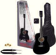 ilektroakoystiki kithara gewapure vgs electro acoustic pack black photo
