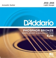 xordes akoystikis kitharas d addario ej16 light 12 53 phosphor bronze photo