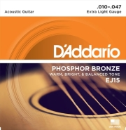 xordes akoystikis kitharas d addario ej15 extra light 10 47 phosphor bronze photo