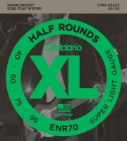 xordes ilektrikoy mpasoy d addario enr70 xl half round series long scale 40 95 nickel semi flatwoun photo