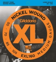 xordes ilektrikoy mpasoy d addario exl160 xl series long scale 50 105 nickel wound photo