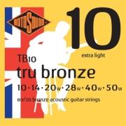 xordes akoystikis kitharas rotosound tb10 tru bronze extra light 10 50 80 20 bronze photo