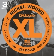xordes ilektrikis kitharas d addario exl110 3d series regular light 10 46 nickel wound 3 set photo