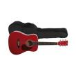 akoystiki kithara gewapure vgs d 10 mini dreadnought transparent red photo
