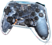 baseus nintendo switch motion sensing vibrating wireless gamepad transparent black photo