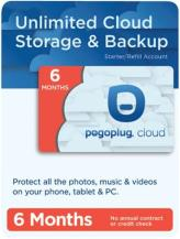 pogoplug 6 month unlimited cloud storage service activation card photo