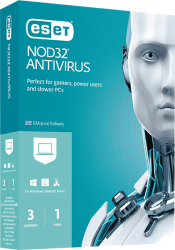 eset nod32 antivirus 3users 1yr retail photo