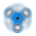 fury nim 1046 fidget spinner blue extra photo 2