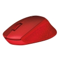 logitech m330 silent plus wireless mouse red extra photo 3