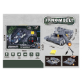 rc tank with lights und music 4 channel blue grey extra photo 3