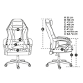 fury nff 1710 avenger m gaming chair black white extra photo 5