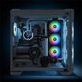 tt pure duo 12 argb black 120x120x25mm sync radiator fan extra photo 5