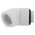 corsair hydro x fitting adapter xf 45 angled rotary glossy white 2 pack extra photo 1